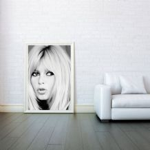 Brigitte Bardot James Bond, Decorative Arts, Prints & Posters, Wall Art Print, Poster Any Size - Black and White Poster